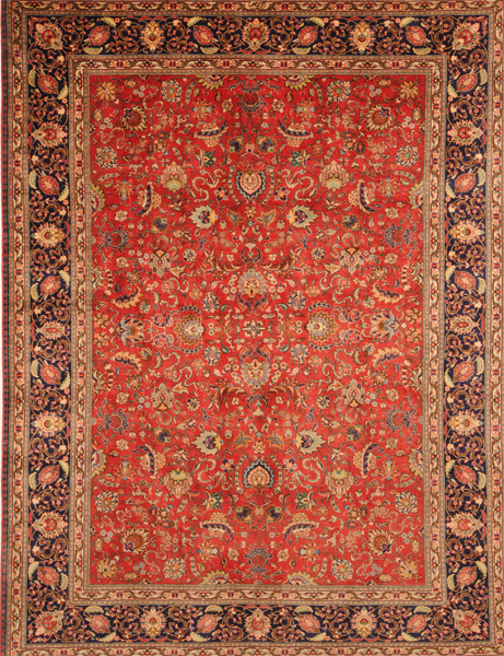 All Over Floral Desgin Tabriz Rugs