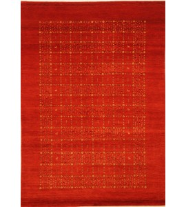 Orange Indian Gabbeh Rug