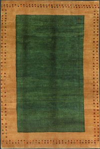 Green Persian Gabbeh Rug