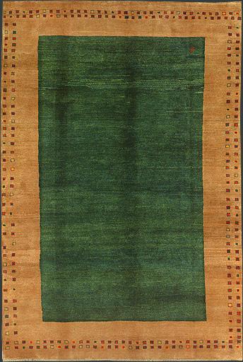 Green Persian Gabbeh Rug