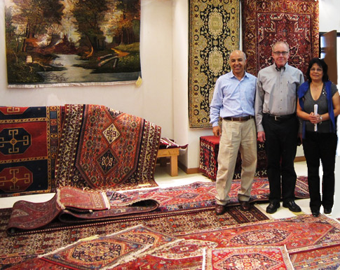Jeff Shadkam and Rose Shadkam are owners of Catalina Rug Inc.