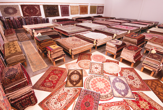 A Glimpse of Inside Catalina Rug's Wharehouse in Torrance, California