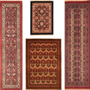 This is a example of Hunting Design, Floral, Panel and Moharamat of Bijar Rugs