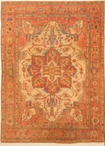 120 years old Heriz rug