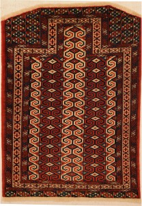 "Turkoman Rug 3' x 3'11"""