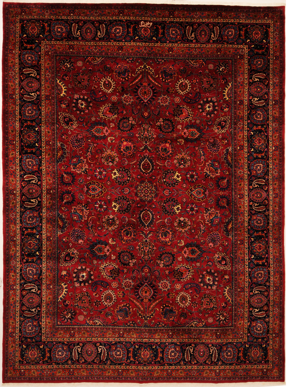 Red 13 X 17 Mashad Rug Hand Knotted Persian EBay