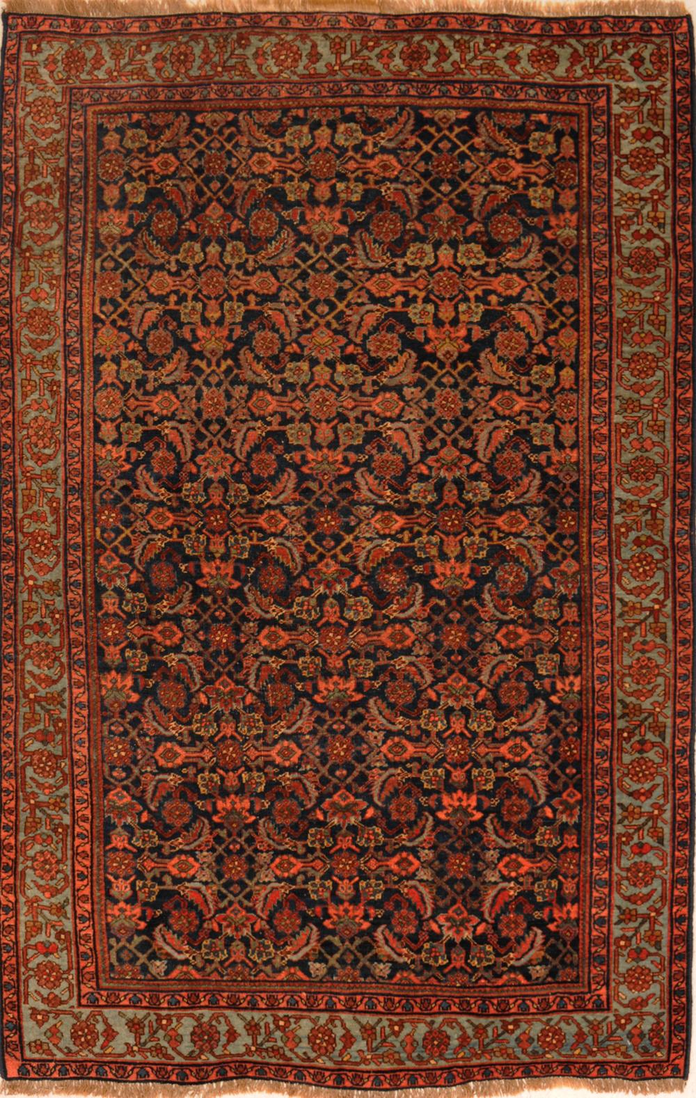 Peach 5 X 7 Bijar Rug Hand Knotted Persian Rug Ebay