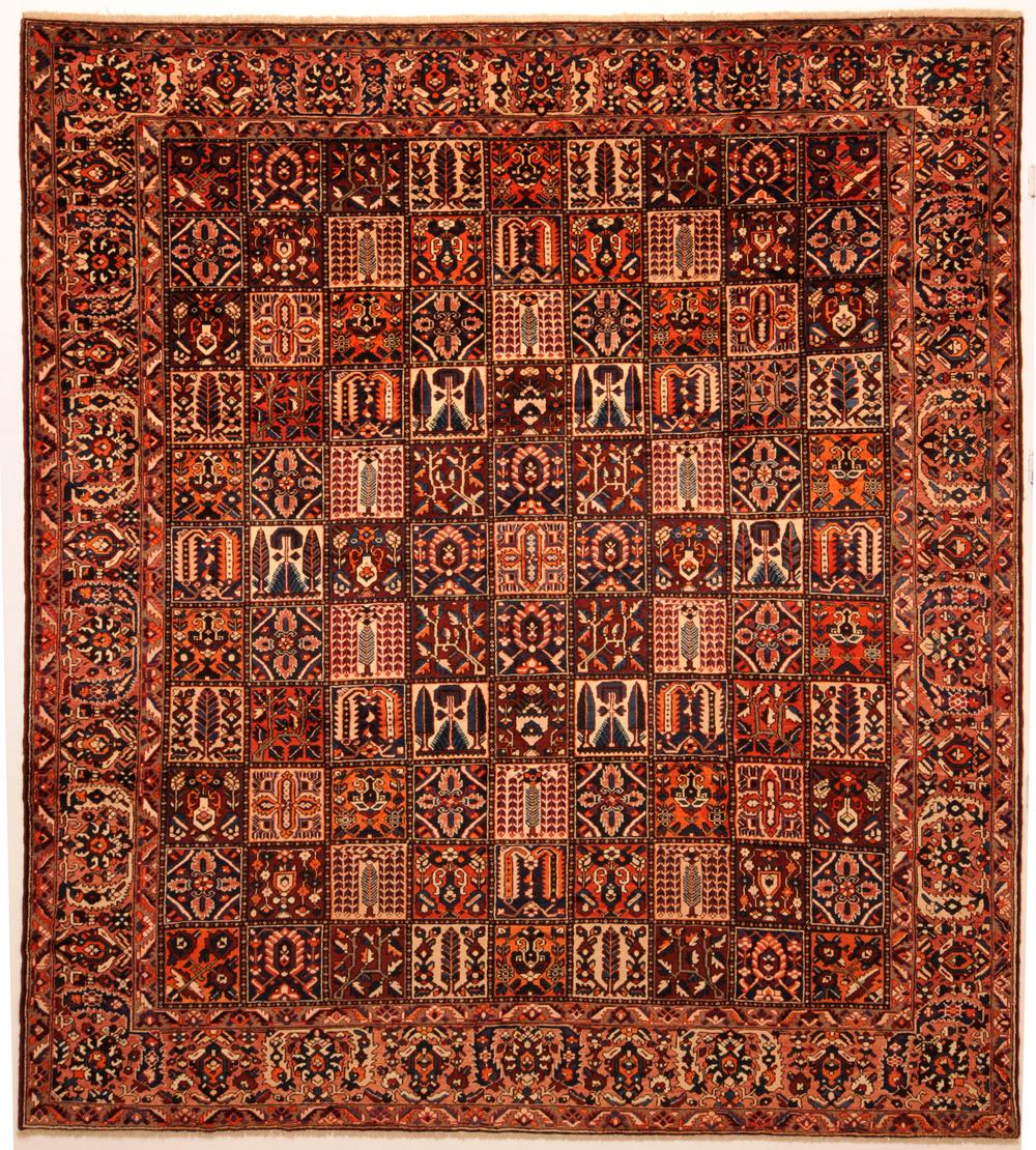 Peach 12' X 14' Bakhtyari Rug Hand Knotted Persian Rug