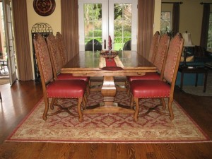 What size rug to use for your dining room for Dining room rugs 9x12