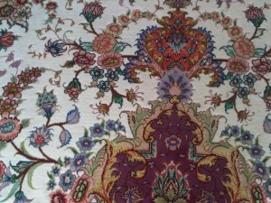 juice stain removed from a persian rug