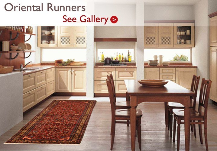 Persian Runner in Kitchen