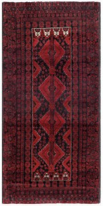 Balouchi Rugs with dark colors