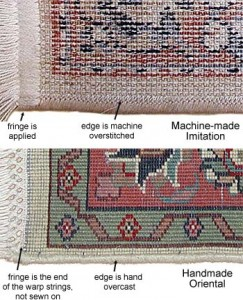 Hand Made Vs Machine Made Rugs -