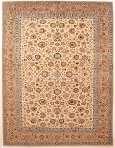 Example of an 80 years old kashan oriental rug