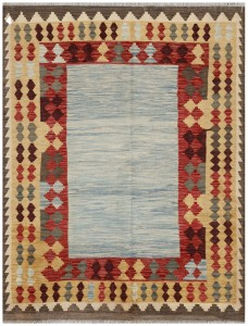 Summer rugs with light back ground and plain pattern in the field