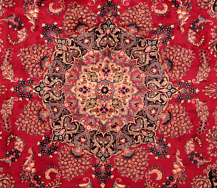 Center Medallion of a Mashad Rug