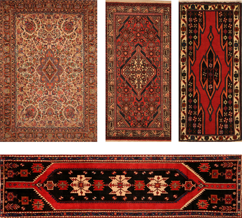 Examples Of Hamadan Persian Rugs