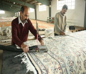 Persian rug shaving