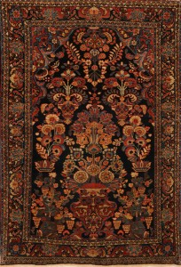 Hand Knotted Malayer Persian Rug Three deminsion