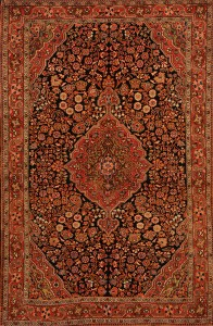 Antique Hand Knotted Malayer Rug