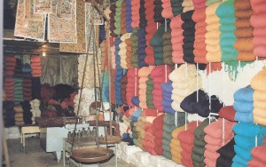 Variety of Wools with different Colors used to weave Sarouk Rugs