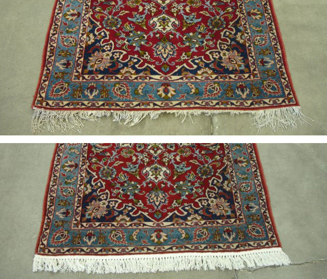 Oriental Rug Repair Guide Before After