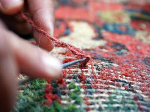 Oriental rug repair Guide: Before & after
