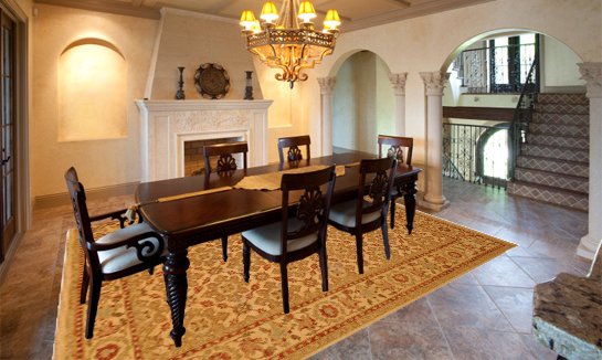 What size rug to use for your dining room for Table size for 12x12 dining room