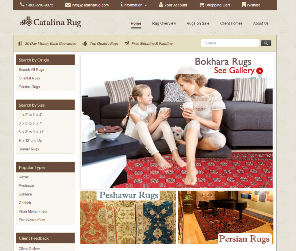 Catalina Rug New Website Launch