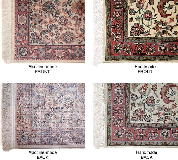 Hand Made vs Machine Made rugs