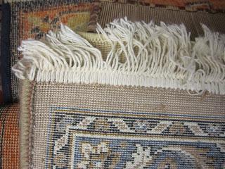 Back of machine rug
