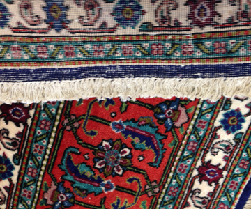 Back of Hand Knotted rug