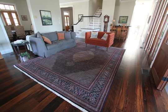 Tabriz Persian Rug in front of Entrance