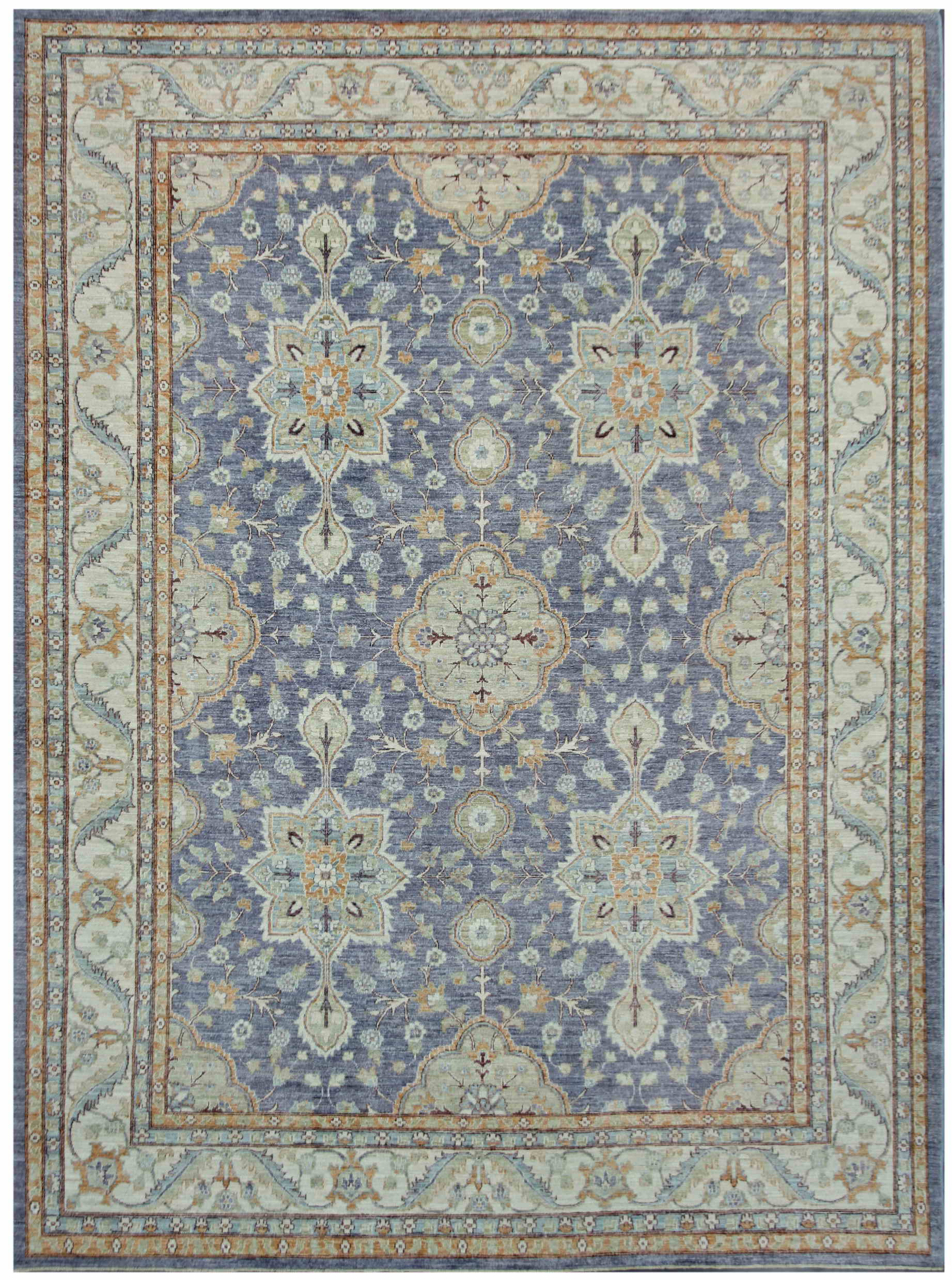 Summer Rugs Peshawar In Light Colors With And Simple Pattern