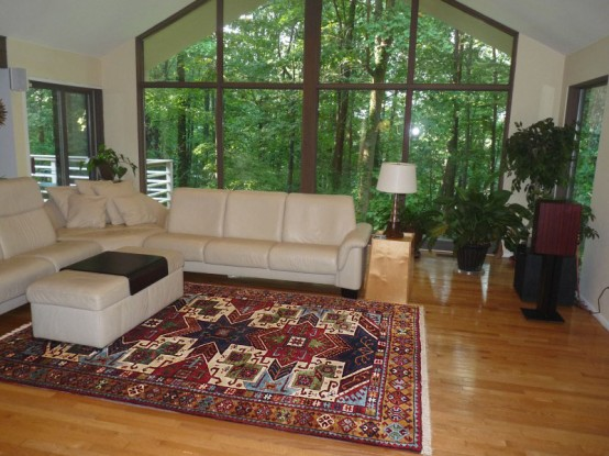 Azerbaijan Rug in a Living Room