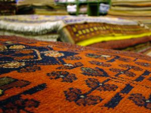 Why Wool Oriental rugs best for wet, spill-prone area