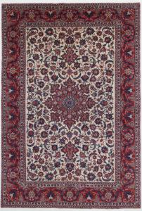 Beige Floral Oriental Rug