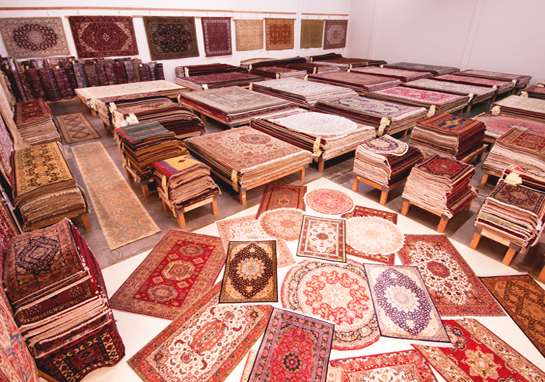 Persian Rugs In Different Colors.