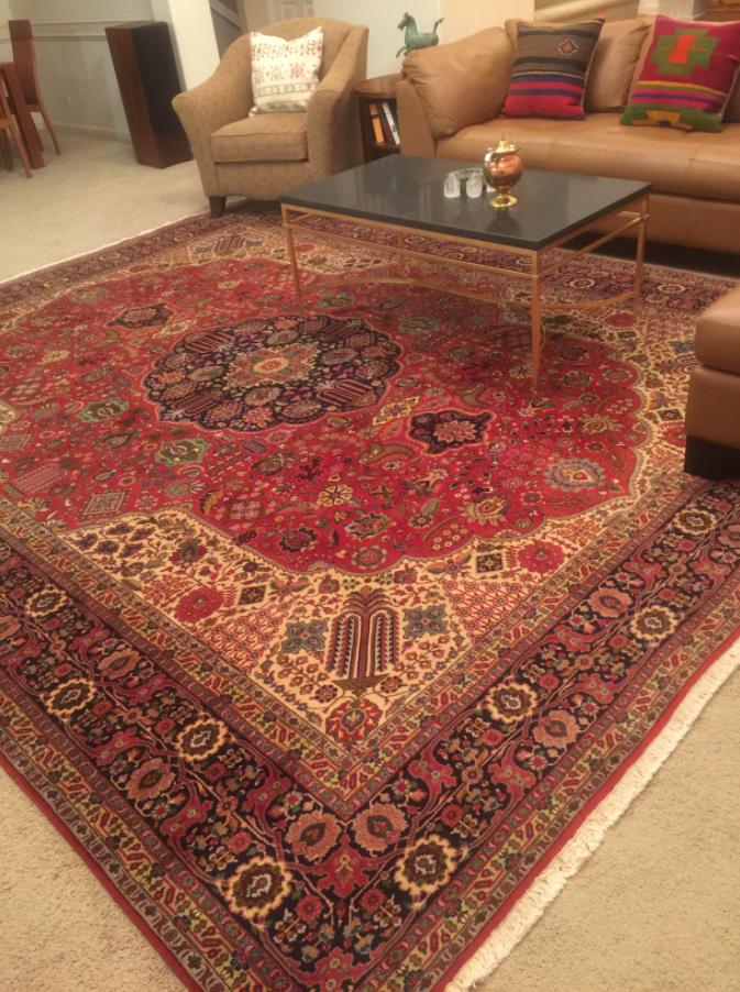 Wool Persian Tabriz Rug