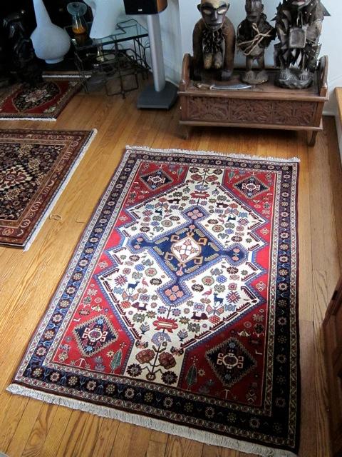 3x5 Qashqai Persian Rug