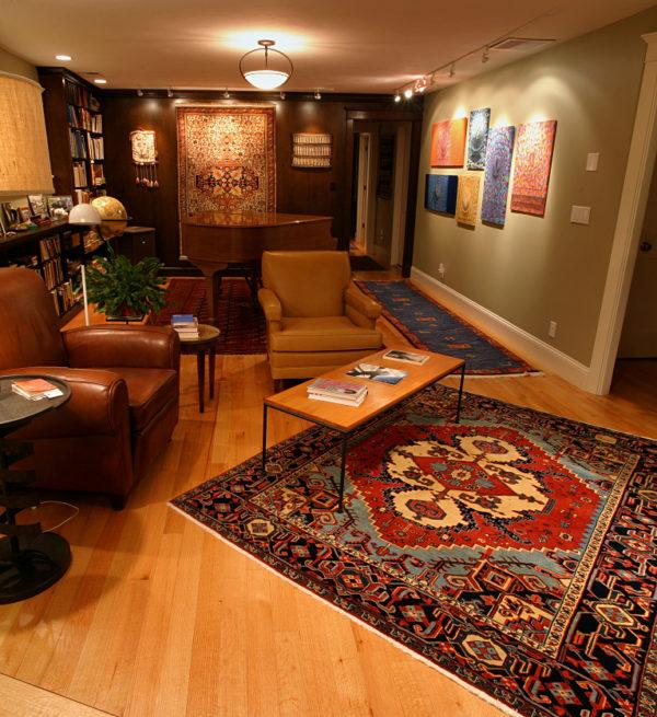 Bakhshaish Persian Rug In Living Room
