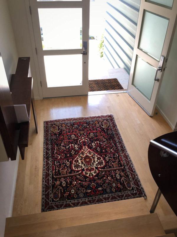 Persian Bakhtyari Rug In The Foyer
