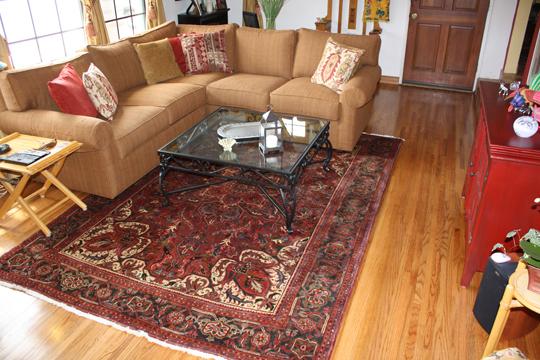 Heriz Persian Rug In The Living Room