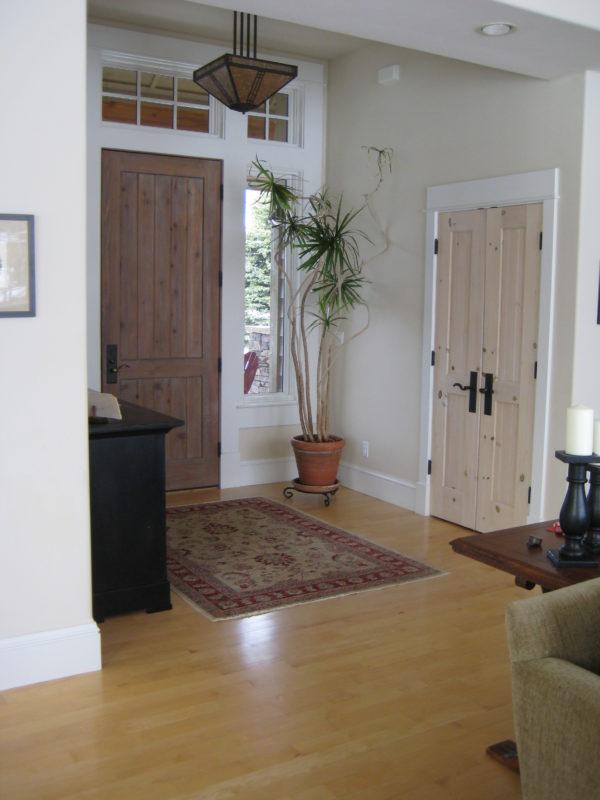 Rectangular Oriental Rug In The Foyer