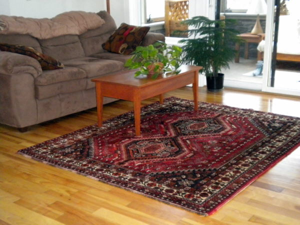Shiraz Persian Rug In The Living Area