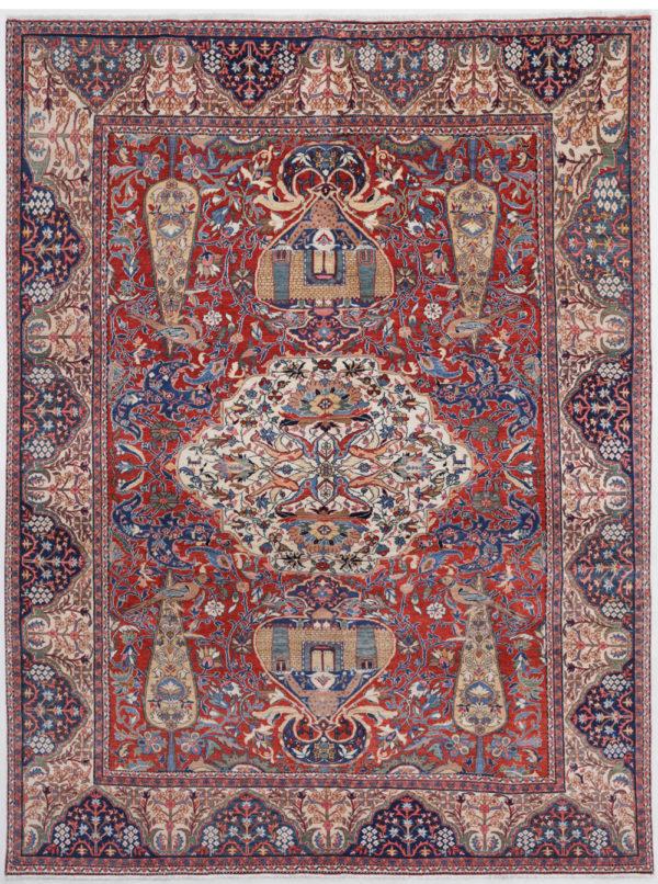 Tabriz Tree Design Fine Persian Rug
