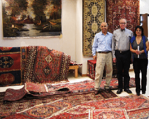 Owners of Catalina Rug with a Client