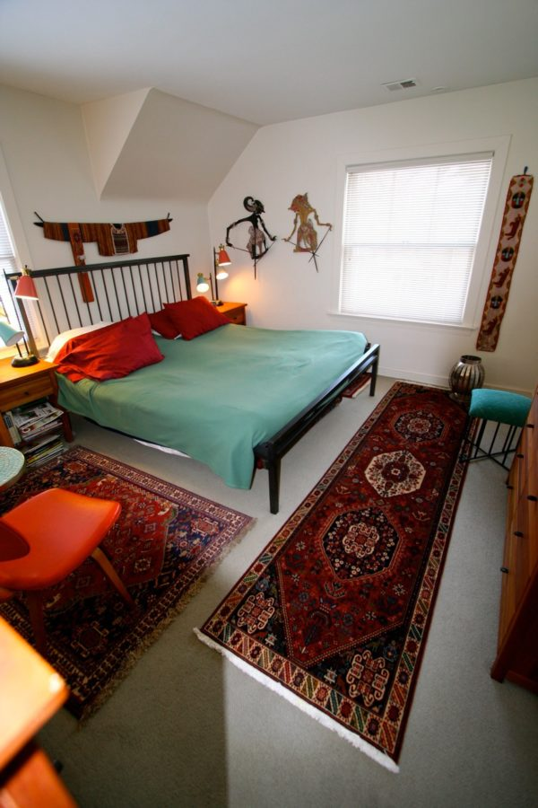 Small Persian Rug In The bedroom