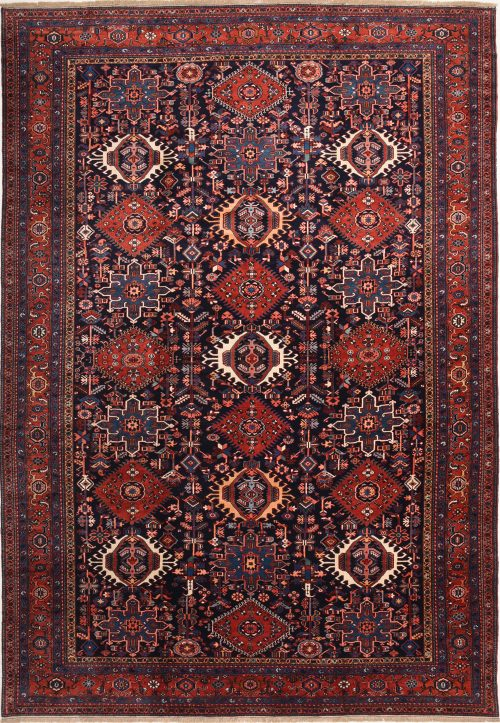 120 Year Old Antique Karaja Persian Rug