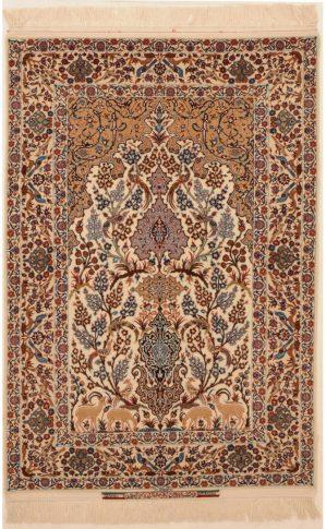 Silk and Wool Isfahan Rug